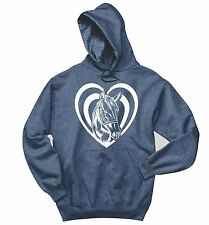 Horse Heart Sweatshirt Love Horse Graphic Country Cowgirl Gift Hoodie