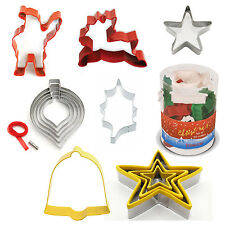 Eddingtons Christmas Cookie Cutter Pastry Baking Xmas Star Tree Holly Santa