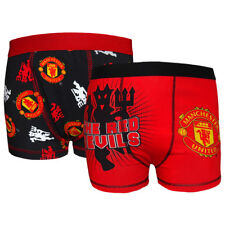 Manchester United FC Official Football Gift 2 Pk Boys Boxer Shorts