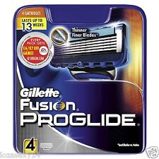 GILLETTE FUSION PROGLIDE AND FUSIONPROGLIDE POWER BLADES,100% GENUINE, BRAND NEW