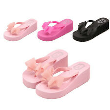 Summer Fashion Female Thick High-heeled Platform Flip-flops Sandals Slippers KS