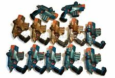 LOT OF 12 Nerf Hasbro Lazer Tiger Tag Phoenix LTX Blue Gold PARTS / REPAIR AS-IS