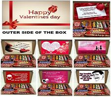 VALENTINES DAY CHOCOLATE GIFT BOX Hamper GIRLFRIEND BOYFRIEND WIFE HUSBAND