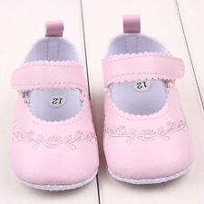 0-12M Newborn Baby Girl Crib Shoes Infant Soft PU Leather Sole Princess Shoes