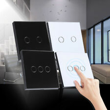 Newest 2/3 Gang Smart Touch Screen Wall Control Light Switch Crystal Glass Panel