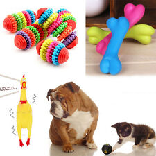 Rubber Pet Dog Cat Dental Teething Healthy Chew Training Interactive Play Toy