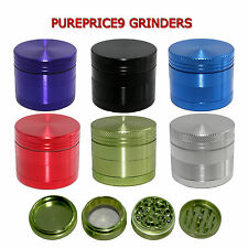4 Part Aluminium Herb Spice Grinder Compact CNC Anodized 40mm