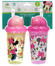 """Minnie Mouse """"Heart Medley"""" 2-Pack Pop-Up Straw Sipper Cups (10 oz.)"""