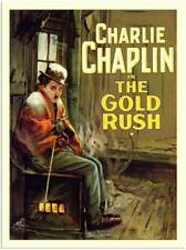 Charlie Chaplin, The Gold Rush  FILM MOVIE METAL TIN SIGN POSTER WALL PLAQUE
