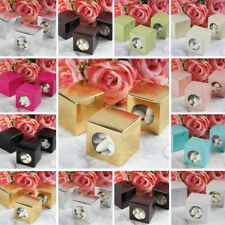 """FAVOR BOXES 100 2"""" x 2"""" Round Window Wedding Party Gifts Supplies Decorations"""