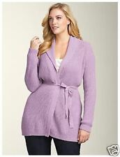 NWT$129 TALBOTS WOOL RIBBED CARDIGAN KNIT SWEATER MAUVE Petite Sz P,PS,PM,PL,PXL