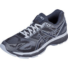 Asics Mens Gel-Nimbus 19 2E Wide Grey White Silver Running Shoes DS T701N-9701