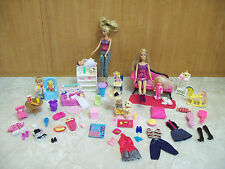 MATTEL BARBIE BABY LOT 5 DOLLS 2 BABIES 1973 KELLY FRIENDS ACCESSORIES FURNITURE