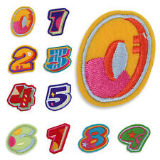 Colorful Numbers Letters Motif Embroidered Patch Iron Sew On DIY Cloth Applique