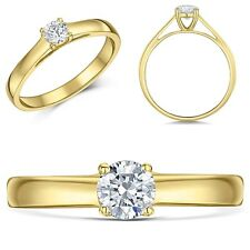 9ct Yellow Gold  Engagement Ring Diamond Solitaire Quarter Third or Half Carat