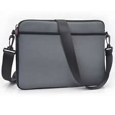 Light Gray Soft Business Briefcase School Messenger Laptop Bag Cover for Laptop