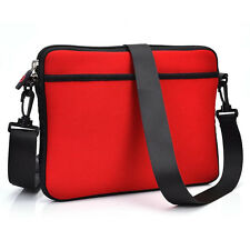 Red Soft Business Briefcase School Messenger Laptop Case Bag Cover for Laptop