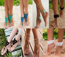 Sexy Barefoot Beach Sandals Crochet Anklet Beach Wedding Yoga Shoes Foot Jewelry