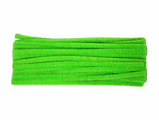 Metallic Highlight Fluorescent Green Chenille Pipe Cleaners