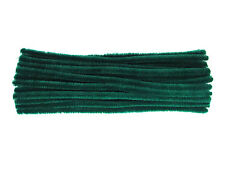 Luxury Plume Green Chenille Pipe Cleaners | 4mm, 6mm, 9mm or 12mm | UK Made