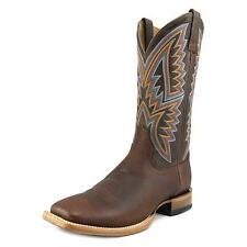 Ariat Hesston Men B Square Toe Leather Brown Western Boot
