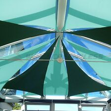 Sun Shade Sail Triangle Turquoise Green Canopy Awning Patio Pool Outdoor Cover