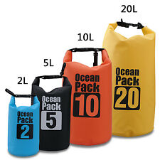 2/5/10/15/20/30L Waterproof Storage Dry Carry Bag Sack Kayak Camp Hiking Canoe