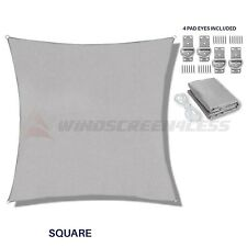 Light Grey Square Sun Shade Sail Canopy Awning  Patio Pool Outdoor UV Cover