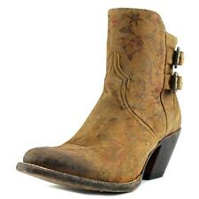 1883 By Lucchese BROWN FLORAL COWBOY Women  Pointed Toe Leather Brown Bootie