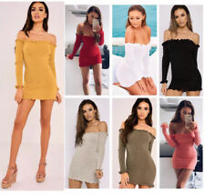 WOMENS TURTLE POLO NECK RIBBED KNIT SLEEVELESS MINI BODYCON LADIES JUMPER DRESS