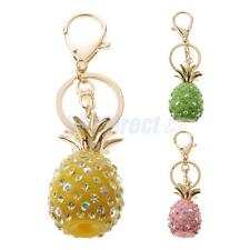 Pineapple Fruit Crystal Keychain Keyring Purse Bag Key Chain Ring Accessory Gift