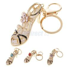 Sparkly High-heeled Shoes Pendant Car Key Chain Ring Stylish Decoration Keychain