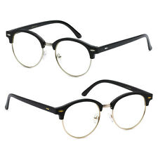 New Vintage Clear Lens Round Glasses Gold Style Metal Frame Unisex Eyeglasses