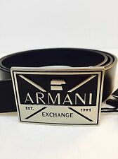 New Armani Exchange Mens A|X  ABSTRACTED EAGLE BELT