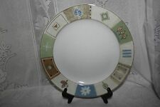 Set of 4 MIKASA CASUAL CLASSICS COUNTRY QUILT DINNER PLATES HG284