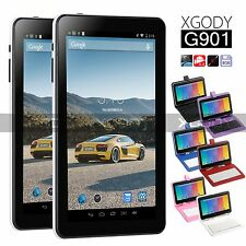 XGODY 9 inch Android 4.4 8GB Quad Core tablet PC HD Camera Bundle Keyboard Case