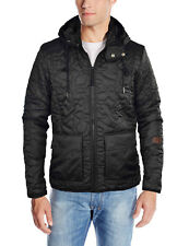 G-STAR Raw Men's Aero Quilted Hooded Overshirt Jacket-Black