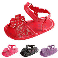 Toddler Girl Crib Shoes Summer Flower Soft Sole Anti-slip Baby Sneakers Sandals