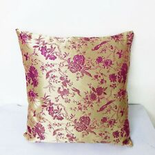 Sofa CUSHION COVER Chinese Brocade Pillow Case old gold basic w wine cbs-601