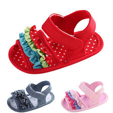 Toddler Girl Crib Shoes Flower Soft Sole Anti-slip Baby Sneakers Sandals
