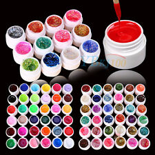 3/12/24/36 Mix Color Solid Pure Glitter Gel Acrylic UV Builder Sets Nail Art TP