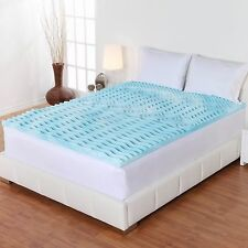 "3"" Gel Orthopedic Memory Foam Mattress Topper Bed Cover Pad Twin Full Queen Size"