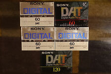 1 Sony DT-120 and 4 DT-60 DAT Digital Audio Tapes for Digital Recording Lot of 5