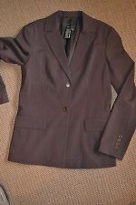 BCBG MAX AZRIA Suit Womens Size 6 / Small Flare Pants Blazer Brown Striped
