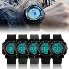 Mens SKMEI Compass Watch LED Waterproof Military Quartz Analog Wrist Watches