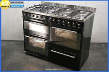 SMEG Symphony SYD4110BL 110 DUAL FUEL FSD RANGE COOKER in Black & Chrome (2733)