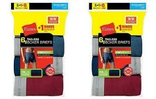 12-Pack Hanes Men's TAGLESS Boxer Brief Underwear ASSORTED COLORS S-XL -Best