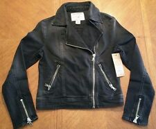 NWT $400.00 True Religion Womens Denim Moto Faded Black W/2N Stitch ..ON SALE!!!