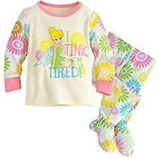 Disney Store Tinker Bell Pj Pals for Baby Pajamas Sleep Set New for 2016