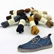 Woman Shoelaces Cord Round Shoe Laces Man's Working Bootlace Woven Shoestrings